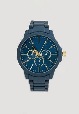Montre bracelet bleu marine matte