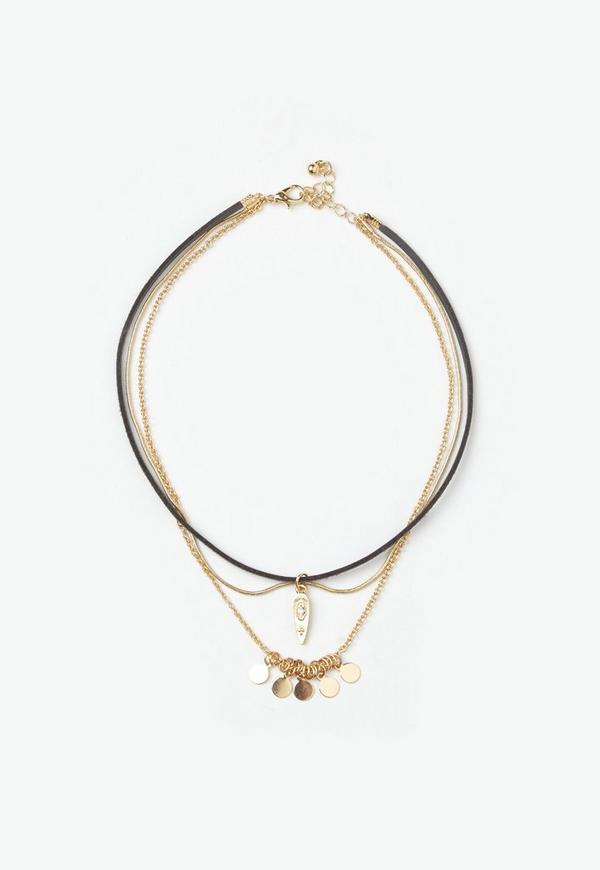 Gold Delicate 3 Pack Choker Necklaces