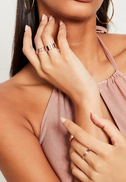 Rose Gold Stacking Ring Set