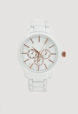 Reloj de Pulsera en Blanco Mate