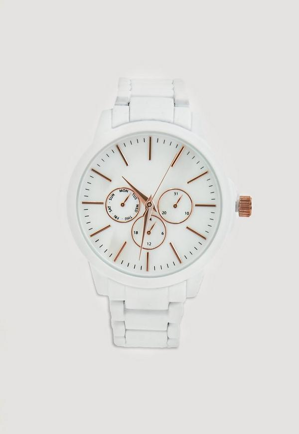 White Matte Bracelet Watch