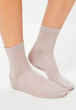 Chaussettes roses soyeuses