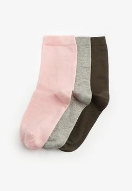 3 Pack Coloured Socks