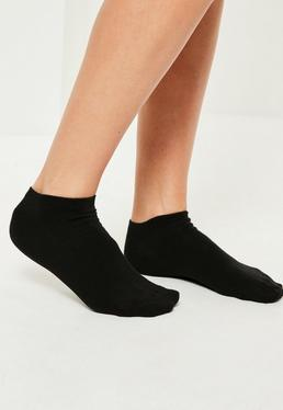 Black Basic 3 Pack Trainer Socks