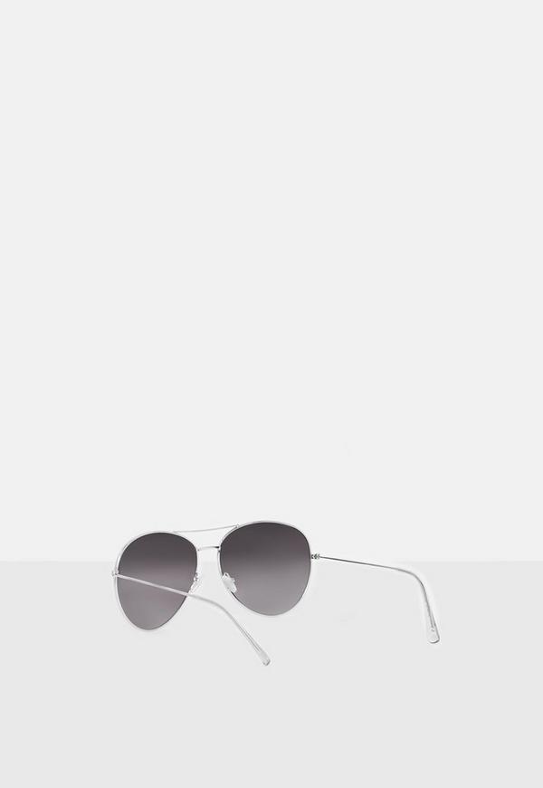 812b3dbee54 ... Silver Glam Aviator Sunglasses. Previous Next