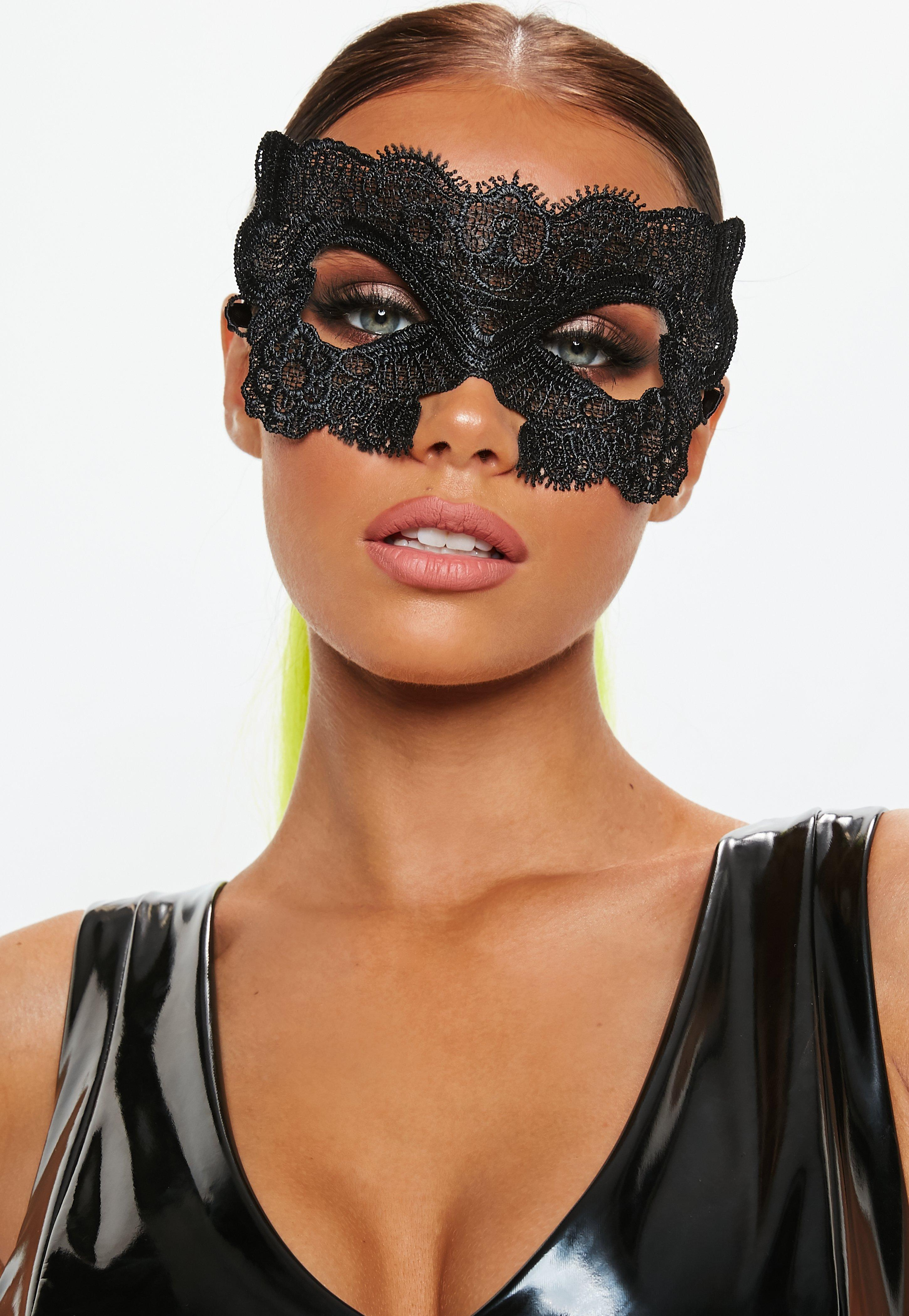 halloween black lacey mask | missguided ireland