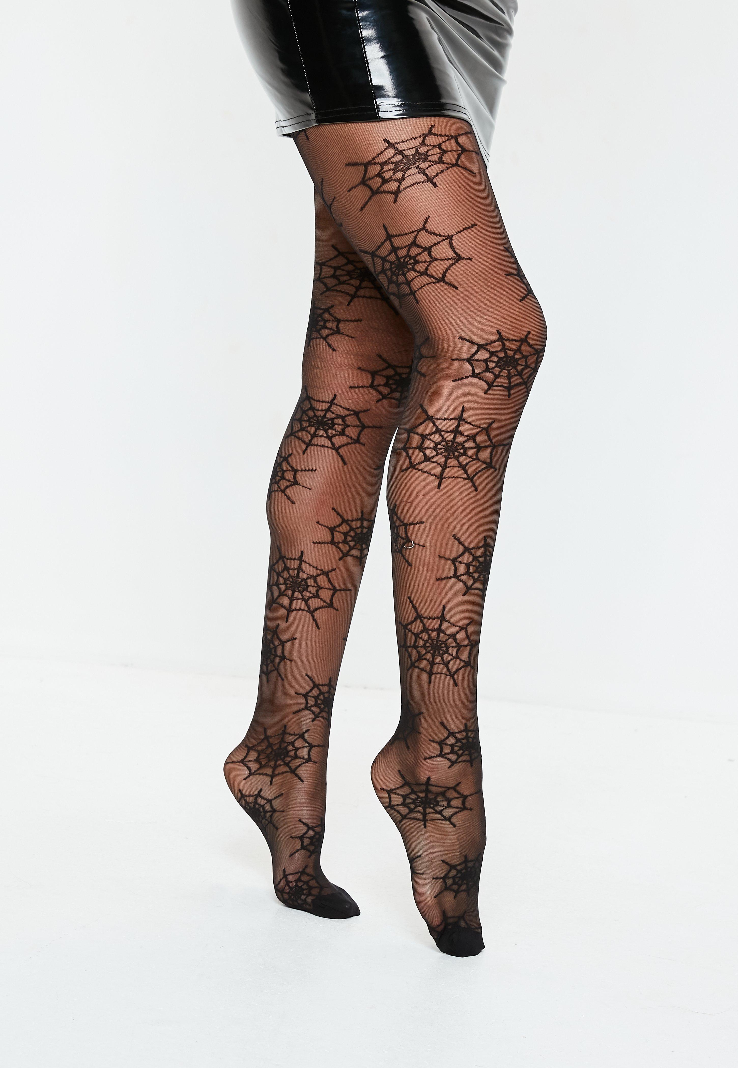 halloween sheer cobweb pantyhose | missguided