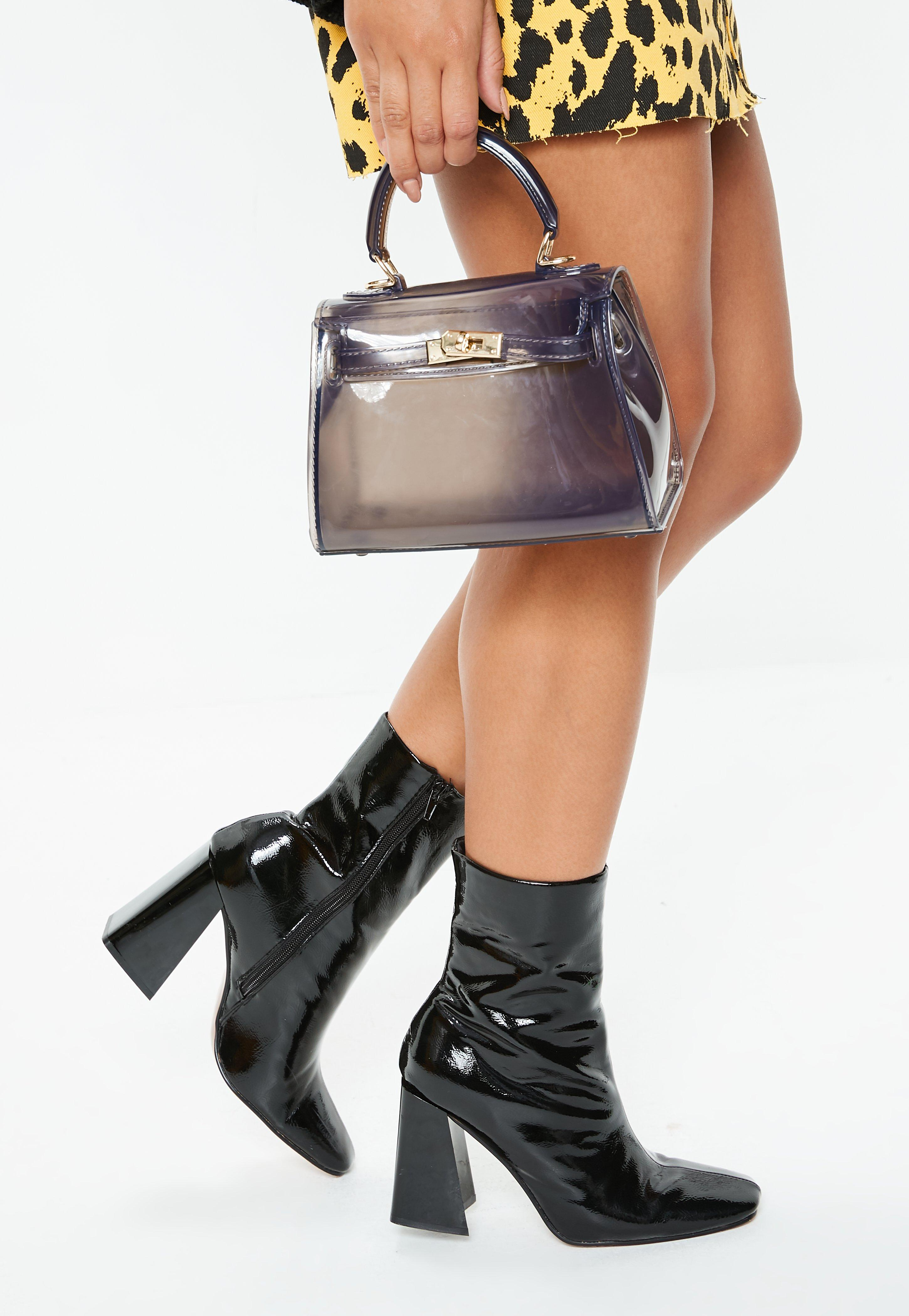 Black Transparent Mini Handbag by Missguided