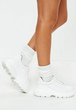 Белые спортивные носки