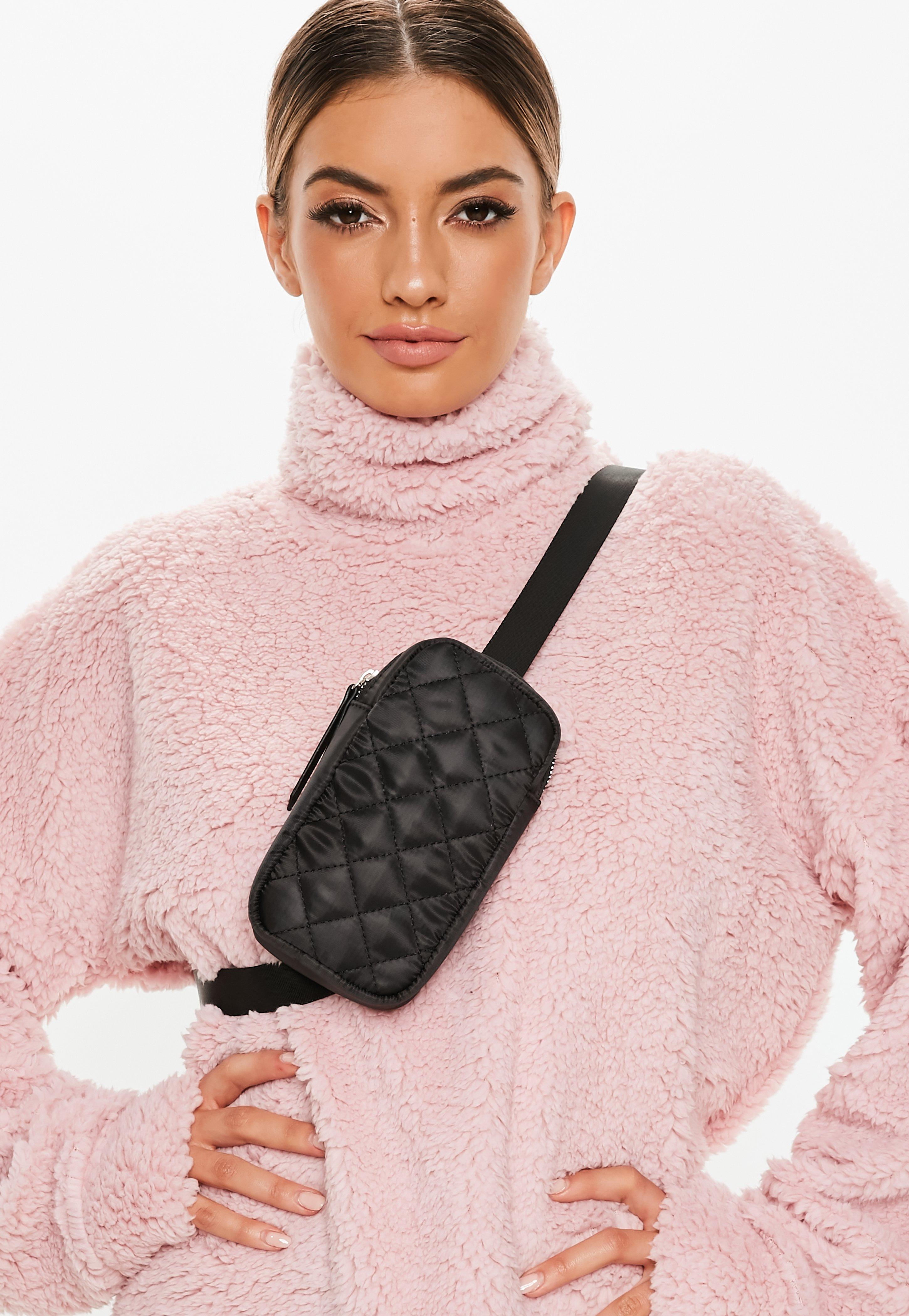 Black One Shoulder Utility Cross Body Bag by Missguided