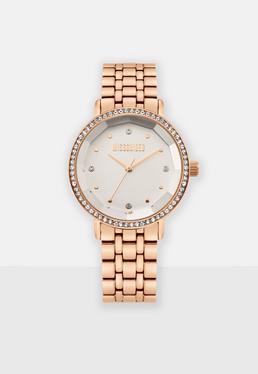 Часы с линзами из розового золота