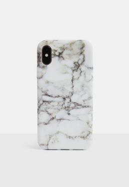 Чехол для iPhone X с белым мрамором
