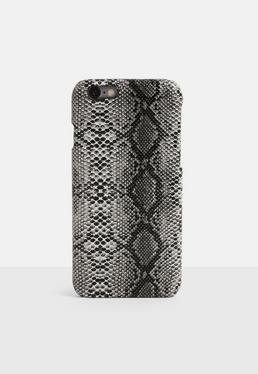 Чехол для iPhone 6/6 S темно-серого цвета со змеиным принтом
