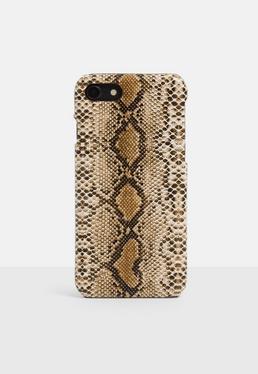 Чехол для iPhone 7/8 с принтом Tan Snake