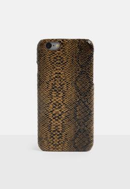 Чехол для iPhone 6/6 S с принтом коричневой змеи