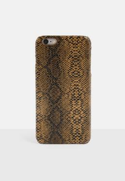 Чехол для iPhone 6 Plus / 6 S Plus с принтом коричневой змеи