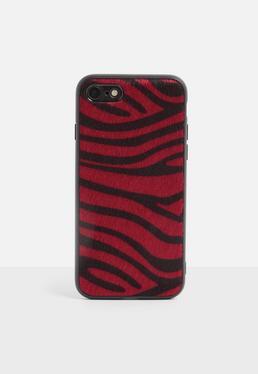 Чехол для iPhone 7/8 с принтом Red Zebra Print