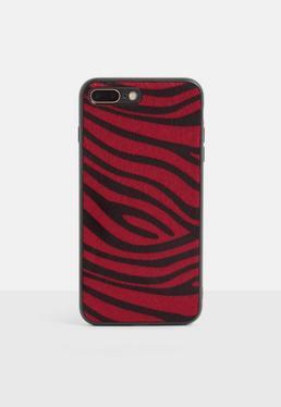 Чехол для iPhone 7/8 Plus с полосками красного животного