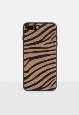 Чехол для iPhone 7/8 Plus коричневого цвета в полоску
