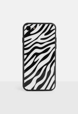 Чехол для iPhone 7/8 с принтом White Zebra Print