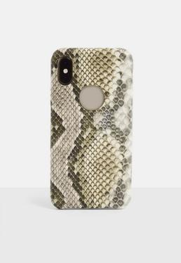 Коричневый змеиный принт iPhone X / XS