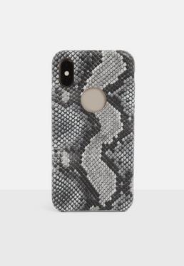 Серый змеиный принт iPhone X / XS