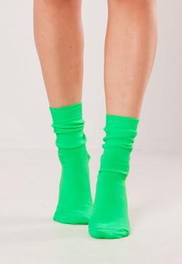 Неоновые зеленые носки