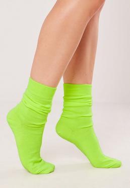 Неоновые желтые носки