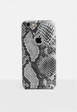 Чехол для iPhone 6 / 6s с серым принтом в виде змеи