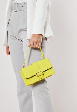 Фактурная прямоугольная сумка через плечо Lime
