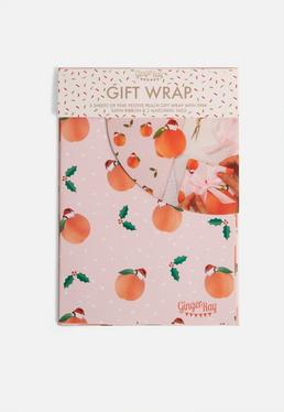 Ginger Ray Peach Christmas Wrapping Kit