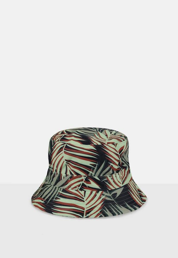 Palm Print Bucket Hat