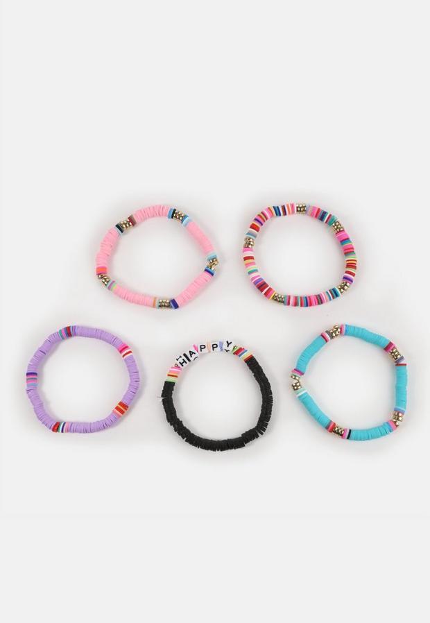 Lilac Pastel Beaded Bracelet Multipack