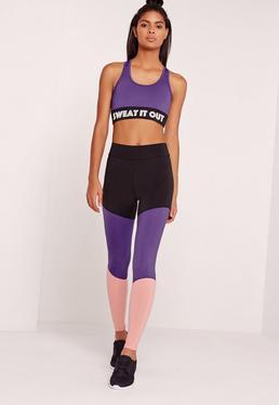 Active Panel Purple Leggings
