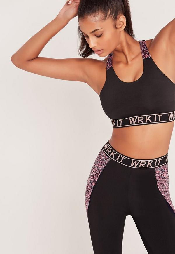 Active WRK IT Sports Bra Black