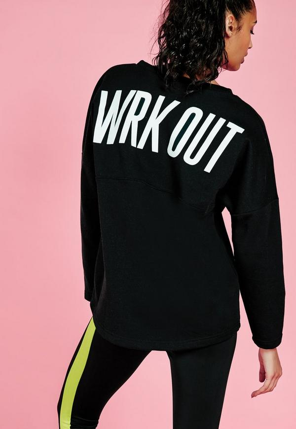 Active WRK OUT Sweatshirt Black