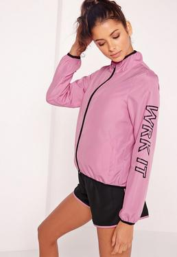Active WRK IT Woven Running Jacket Pink