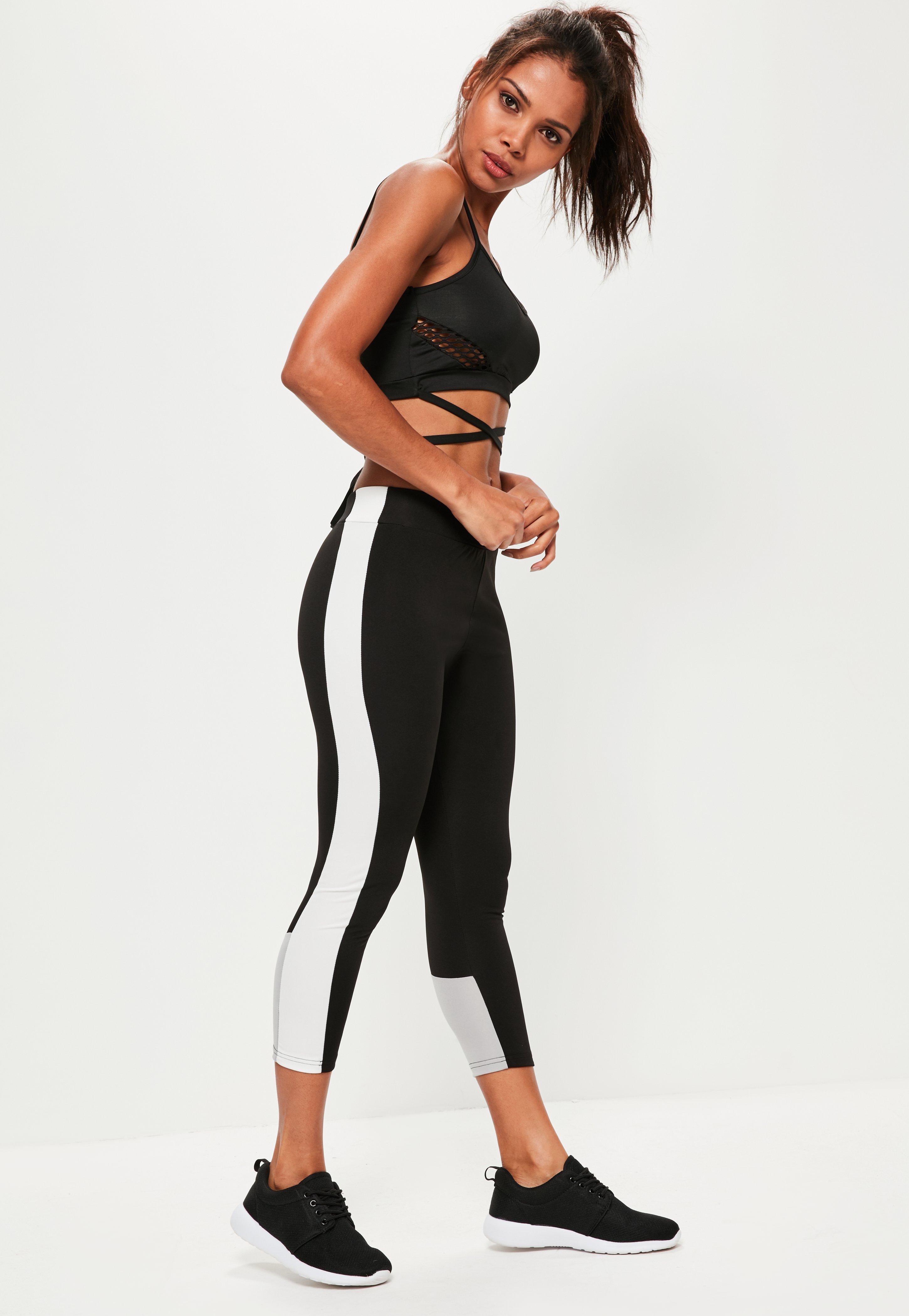 651879fde008c4 Active Black Contrast Sports Leggings | Missguided