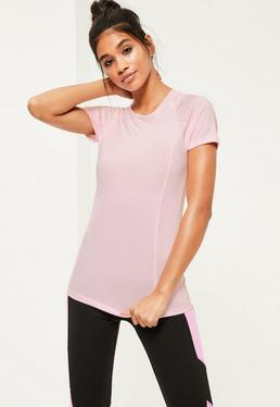 Active Pink Fitted T-Shirt