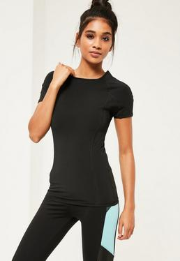Active Black Fitted T-Shirt