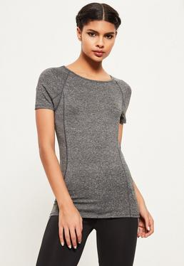 Active Grey Fitted T-Shirt