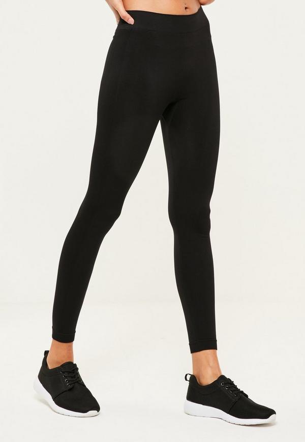 Active Black Full Length Seamless Sports Leggings