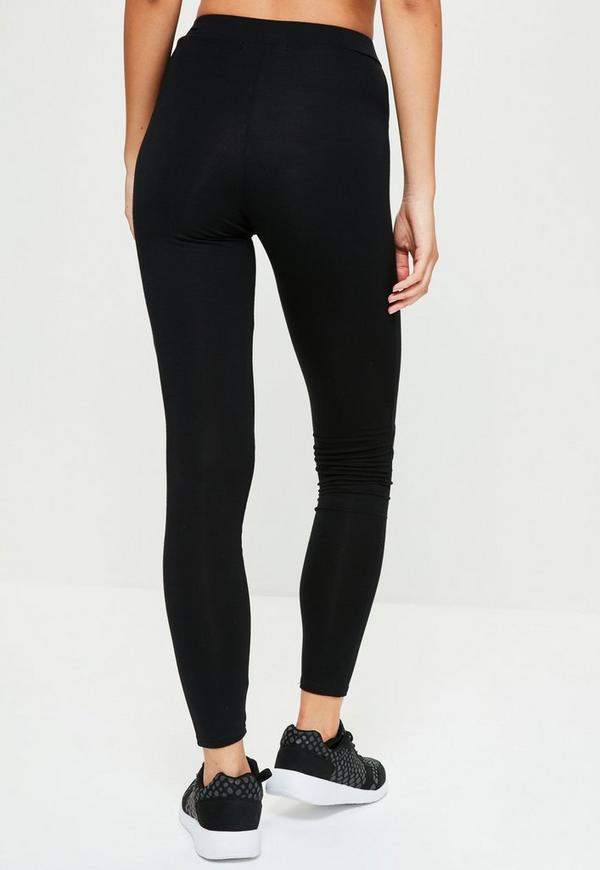 Active Black Cut Out Yoga Leggings | Missguided