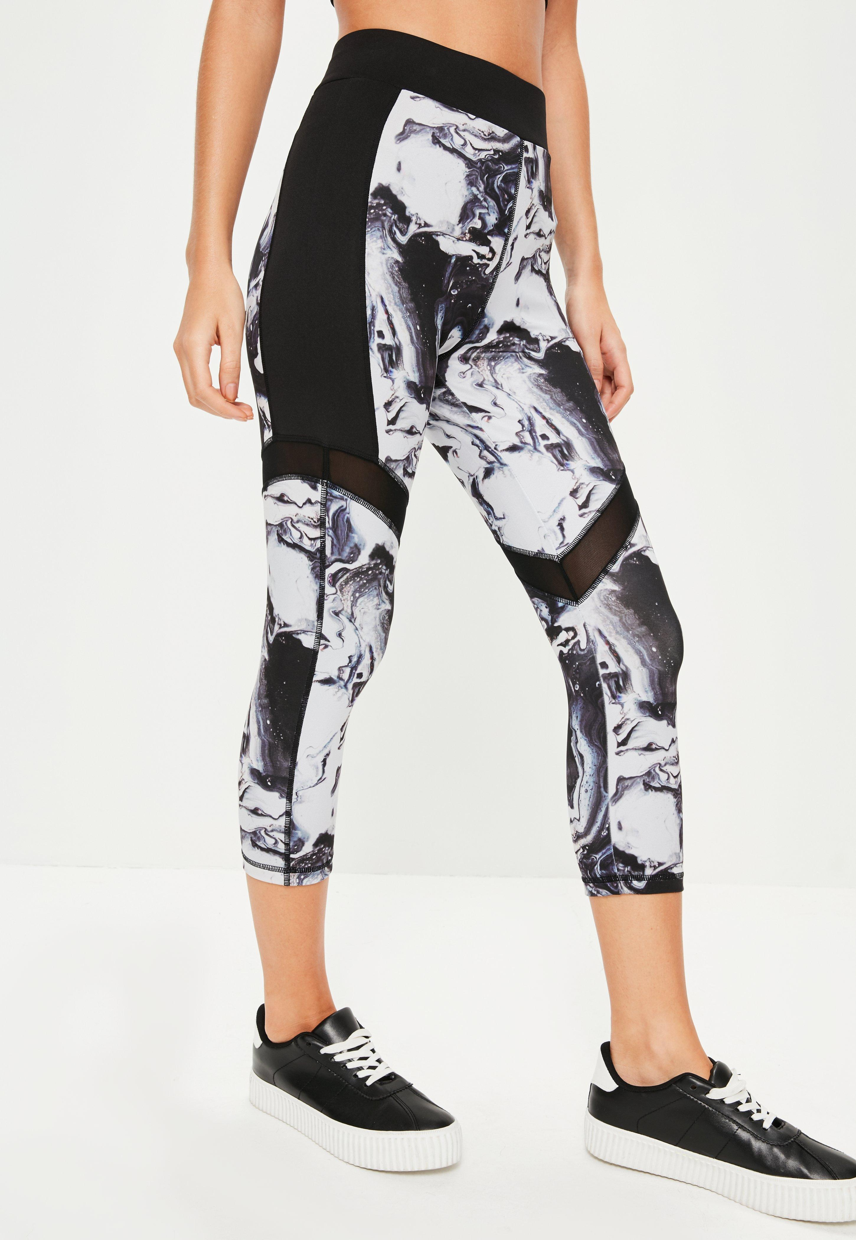 Active Black Marble Print Crop Leggings. Was $28.00. Now $19.00 (31% off).  Previous Next