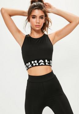Active Black Exhale Crop Top