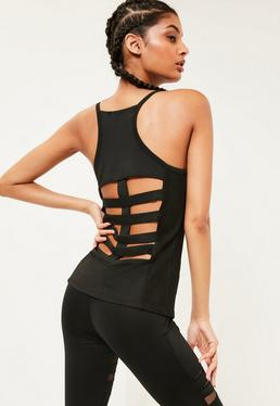 Active Black Fishnet Vest