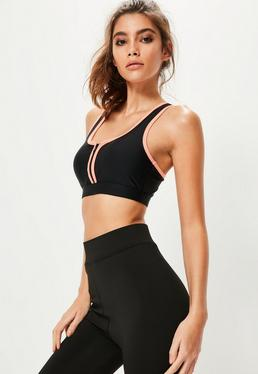 Active Black Sports Bra