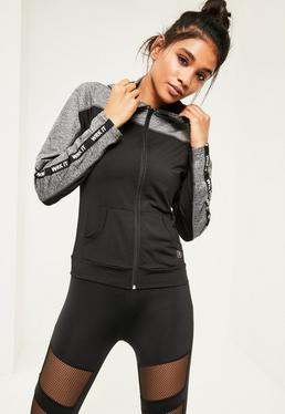 Active Black Work It Hooded Jacket