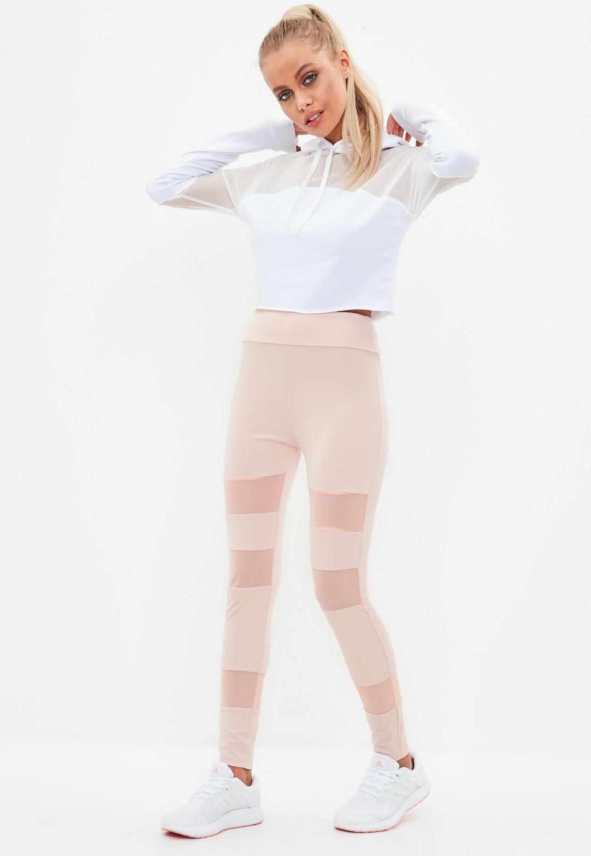 47dfea12639a89 active pink mesh insert gym legging, Pink - Missguided at £16 | love ...