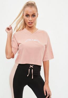 Active Camiseta corta voltage en rosa